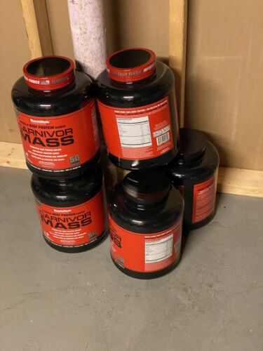 MUSCLEMEDS CARNIVOR MASS  beef gainer protein 5 Unopened New