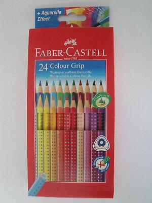 Faber-Castell 24 Colour Grip Wasservermalbare Buntstifte