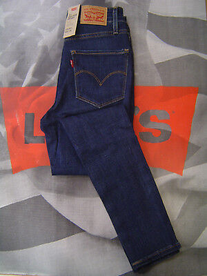 LEVI'S 721 WOMEN'S SKINNY FIT HIGH RISE ZIP FLY STRETCH JEANS BLUE STORY    Blue Skinny Fit Jeans