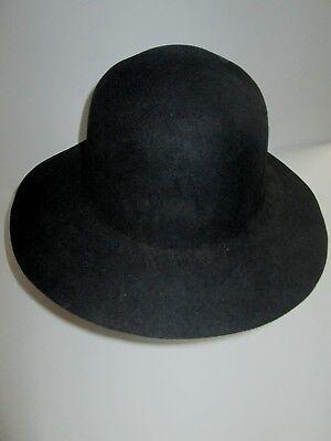 Deluxe SETTLER AMISH HILLBILLY Costume HAT Black Felt THEATER - Amish Halloween Costume