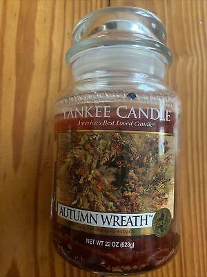 "Yankee Candle ""Autumn Wreath"" Food & Spice ~ Large 22 oz ~ Lightly Used"