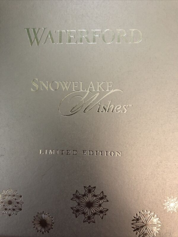 2015 Waterford Snowflake Wishes Ornament