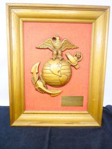 "US Marines Emblem Award Framed 20"" by 16"" Beautiful!!! Unique!"