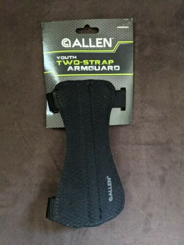 Allen Archery ARM GUARD Bow Hunting 2 Two Strap Buckle Youth 6 inch Black 42023A