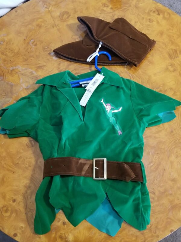 Disney XS 4/5 Peter Pan Costume From The Disney Store Full Suit CE14