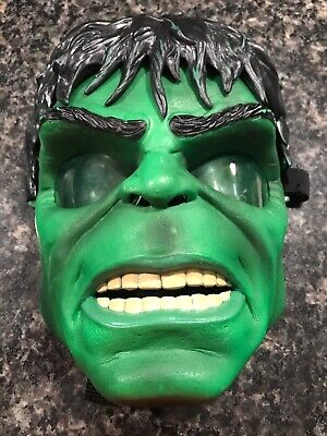 The Hulk Mask (THE INCREDIBLE HULK GLOW MASK AND RUBBER HAIR)