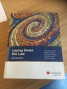 Laying Down the Law 9th Edition (Foundations of Law) LAWS1006 Camperdown Inner Sydney Preview