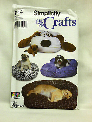Simplicity Crafts Sewing Pattern # 7014 Dog Bed Longia Miller Designer - Uncut
