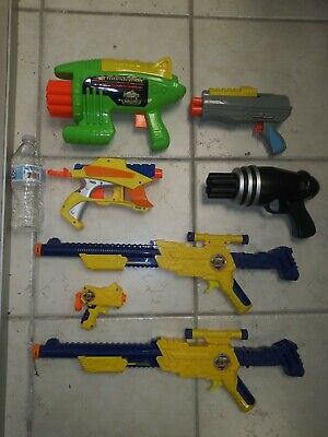 NERF Gun Lot Of 7 X Shot Air Blasters Air Warriors Despicable Me