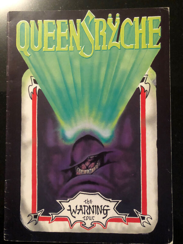 Queensryche The Warning Tour Book 84/85 Complete Intact VG Condition