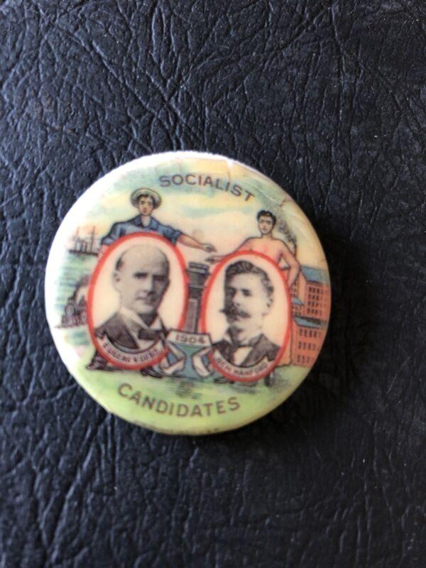 1904 EUGENE V DEBS BEN HANFORD FOR PRESIDENT SOCIALIST PARTY Reproduction PIN