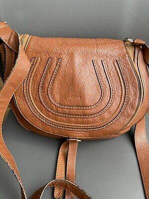 Authentic CHLOE Leather Medium Marcie Zip Crossbody Bag