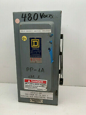 Square D H362 60-amp 600vac Indoor Fusible Safety Switch 60a 600v