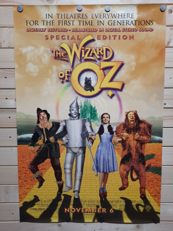 The Wizard Of Oz 27x40 Special Edition Original Movie Poster RARE NEW DS