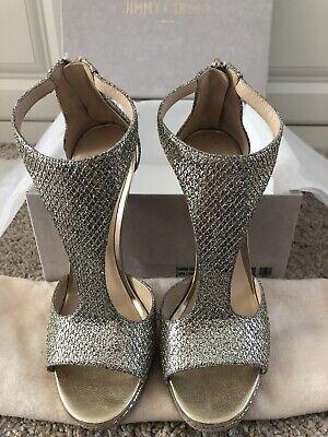JIMMY CHOO Lana 120 glitter heeled sandals (Pre Owned)