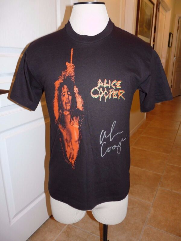 Alice Cooper Personally Owned Signed 86/87 Nightmare Return Shirt Psa Certified