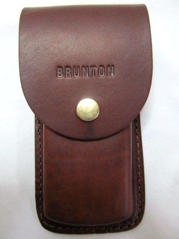 "Leather BRUNTON Survey Master CASE Belt Holster w/ USB Slot Hold Capac. 6x2x1"""