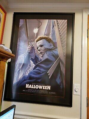 Michael Myers Halloween 2015 Movie Poster Framed by Jason Edmiston # 149 of 300