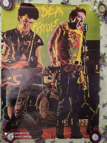 SEX PISTOLS Vintage Big Poster Punk Rock Johnny Rotten Sid Vicious PUNK