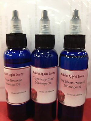 Aroma Massage Oil - MASSAGE oil..you choose scent! 4 oz - body, bath oil, relaxing!