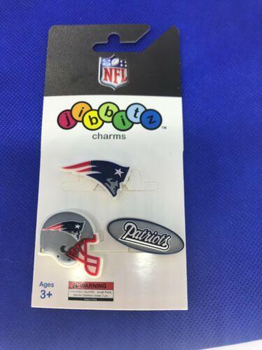 NFL Licensed New England Patriots 3 Pack Authentic Crocs Jibbitz (NEW)
