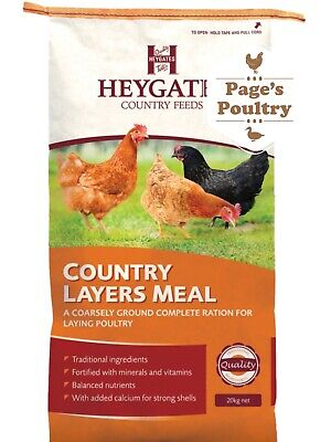 Heygates Country Layers Meal / Mash 20 Kg Chickens Poultry Feed Food