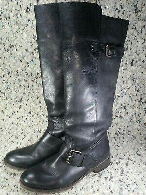 DV By Dolce Vita Lucianna Black Riding Knee High Block Boots Womens Shoe Sz