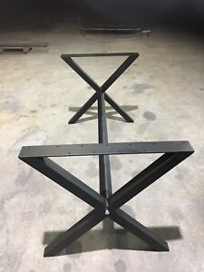 Custom made heavy duty steel table legs !