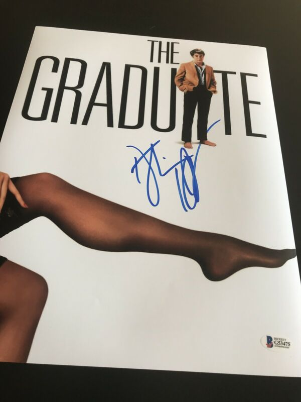 DUSTIN HOFFMAN SIGNED AUTOGRAPH 11x14 PHOTO THE GRADUATE BECKETT BAS IN PERSON D