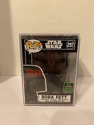 Funko POP! Star Wars Boba Fett Futura #297 ECCC 2020 Limited In Hard Case