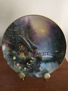 FOR SALE: THOMAS KINKADE PLATE 'FALBROOKE COTTAGE'