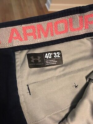 Under Armour Mens 40X32 Blue Nylon Athletic Pants