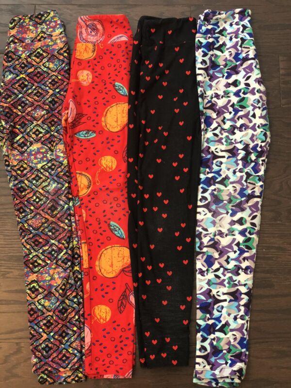 Lularoe Leggings Tween Lot Of 4