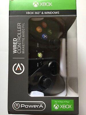 Power A Proex Xbox 360   Windows Wired Controller  Black