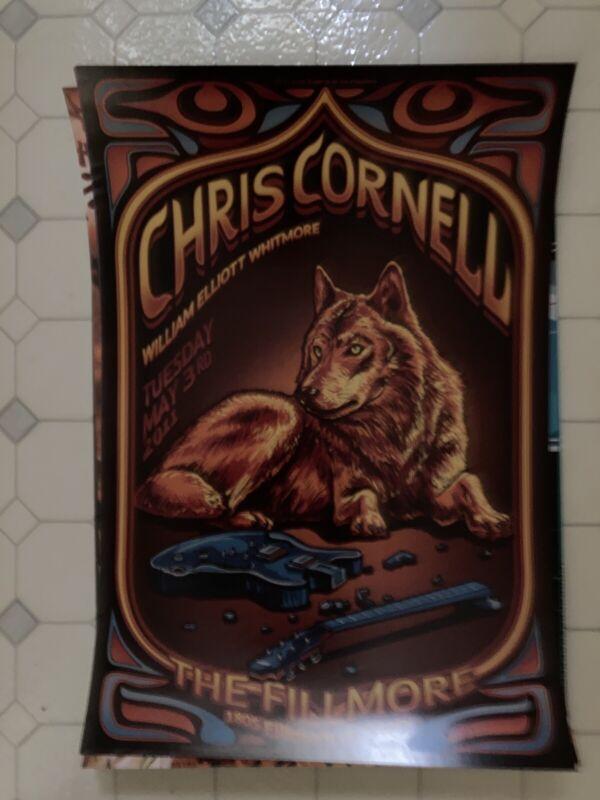 Chris Cornell concert poster The Fillmore