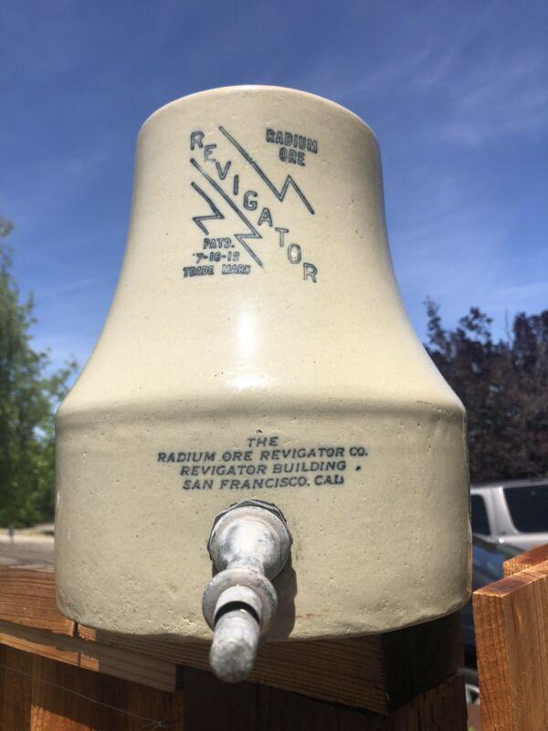 Rare Antique Radioactive Radium Ore Revigator Stoneware Water Dispenser No Lid