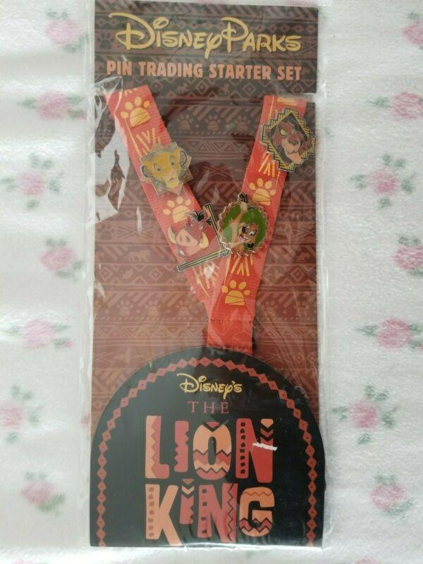 Disney Parks The Lion King 4-Pin Starter Pack Lanyard Set New