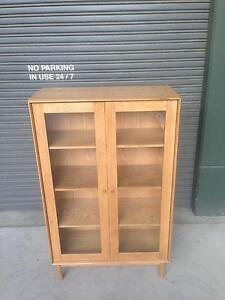 FREEDOM LARSSON DISPLAY CABINET - OAK - 100CM W X 160CM H X 45 D Homebush West Strathfield Area Preview