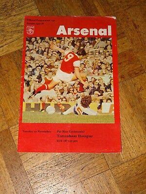 Arsenal v Tottenham Pat Rice Testimonial Nov 22nd 1977