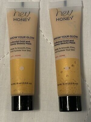 2 Hey Honey Show Your Glow Colloidal Gold And Honey Beauty Mask 15ml SEALED
