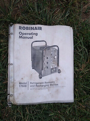 Robinair Refrigerant Recovery And Recharging Station - Model 17600