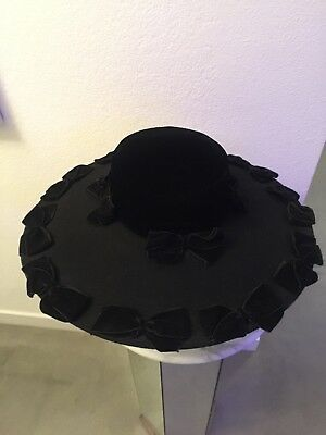 ERIC JAVITS WOOL/VELVET BOW WOMANS HAT