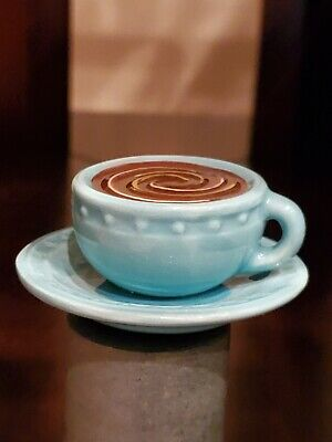 Nora Fleming Mini- A209 Warm Me Up blue coffee cup RETIRED ceramic platter charm