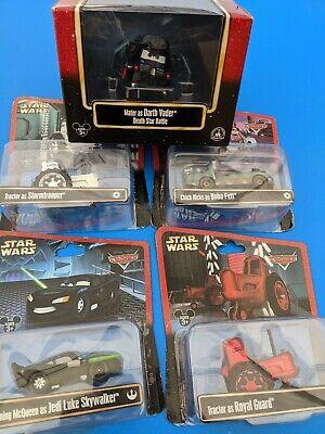Disney Pixar Cars Lot Red Tractor stormtrooper boba fett Vader Jedi Star Wars