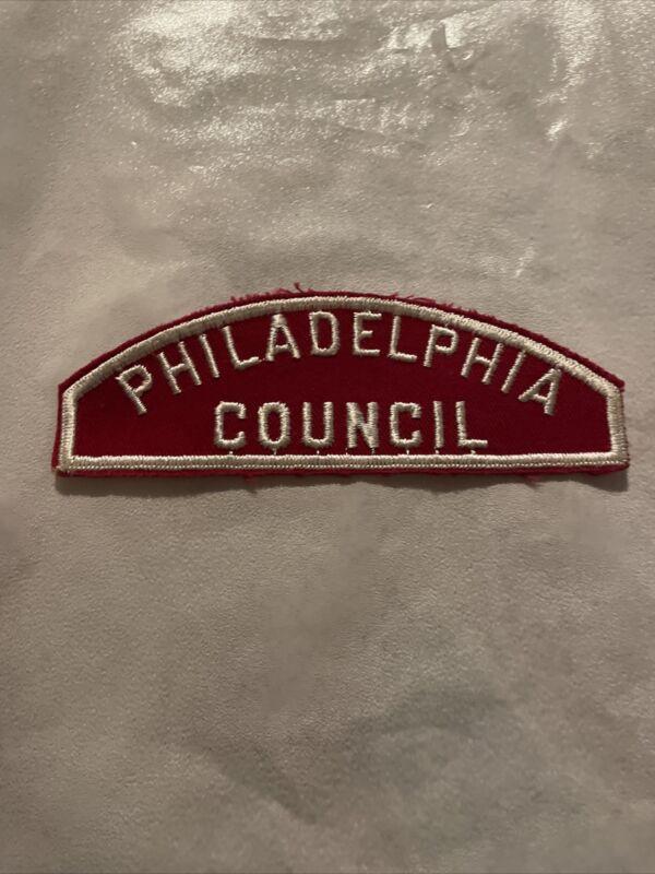 Philadelphia  Council  RWS red and white Council strip Boy Scout CSP BSA