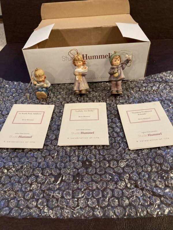 Berta Hummel Studio Hummel Ornaments - Set #5 (96035) w/COAs!!