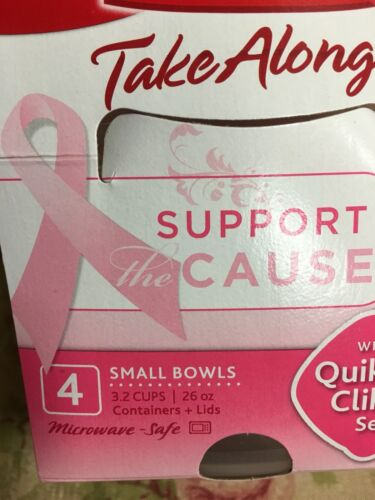 New Rubbermaid PINK Takealong Breast Cancer Cuisinart Kitche