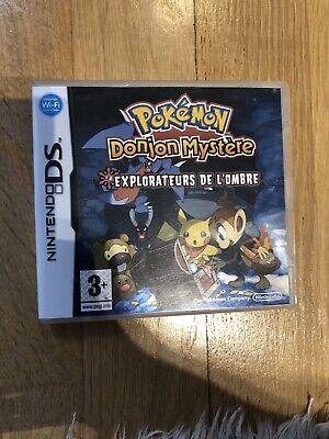 JEU NINTENDO DS 3DS POKEMON DONJON MYSTERE EXPLORATEURS DE L'OMBRE  COMPLET