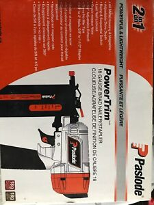 Paslode 2 in 1 18 gauge brad Nailer/stapler