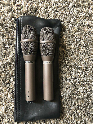 Vintage 1990's Shure AMS26 condensor cardioid microphone PAIR